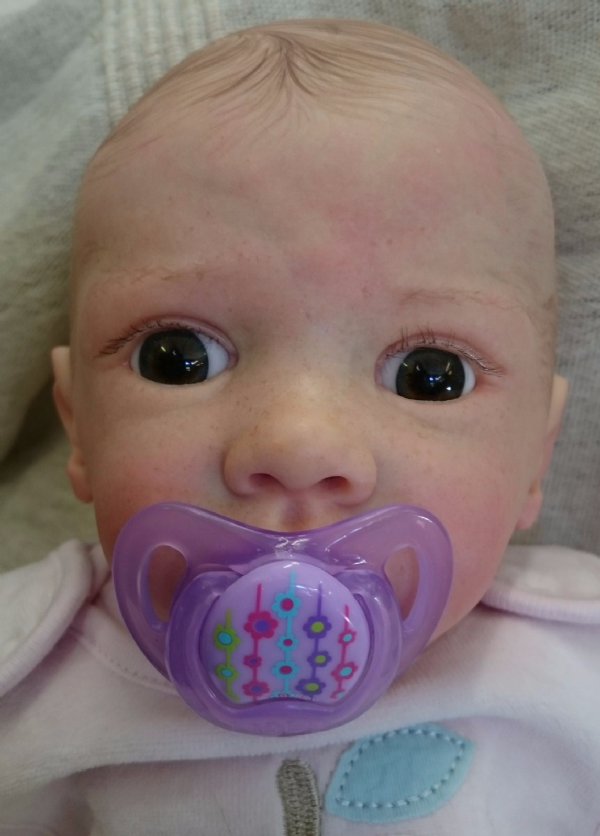 Ella,reborn baby doll with full limbs. Hand painted hair. 46cm